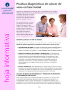 Thumbnail of the PDF version of Pruebas diagnósticas de cáncer de seno en fase inicial