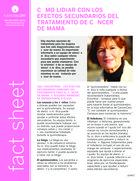 Thumbnail of the PDF version of Confrontando los efectos secundarios del tratamiento de cáncer del seno