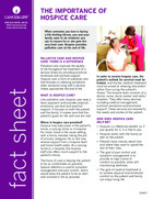 Thumbnail of the PDF version of Hospice Care: Quality of Life at the End of Life