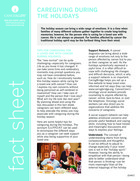 Thumbnail of the PDF version of Caregiving During Holidays and Special Occasions