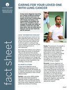 Thumbnail of the PDF version of Caring for Your Loved One with Lung Cancer