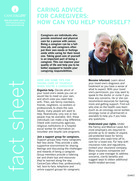 Thumbnail of the PDF version of Caring Advice for Caregivers: How Can You Help Yourself?