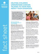 Thumbnail of the PDF version of Helping Children Understand Cancer: Talking to Your Kids About Your Diagnosis