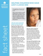 Thumbnail of the PDF version of Helping Children Who Have Lost a Loved One