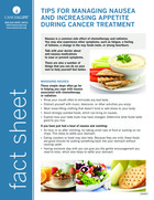 Thumbnail of the PDF version of Tips for Managing Nausea and Increasing Appetite During Cancer Treatment
