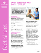 Thumbnail of the PDF version of Early Detection and Breast Cancer: What Every Woman Should Know