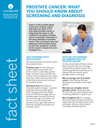 Thumbnail of the PDF version of Prostate Cancer: What You Should Know About Screening and Diagnosis