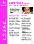 Thumbnail of the PDF version of What You Need to Know About Breast Cancer:  A Guide for Newly Diagnosed African American Women