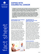 Thumbnail of the PDF version of Coping with Colorectal Cancer