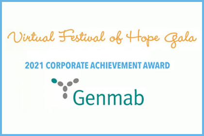 Our Festival of Hope Gala honored Genmab with the 2021 Corporate Achievement Award »