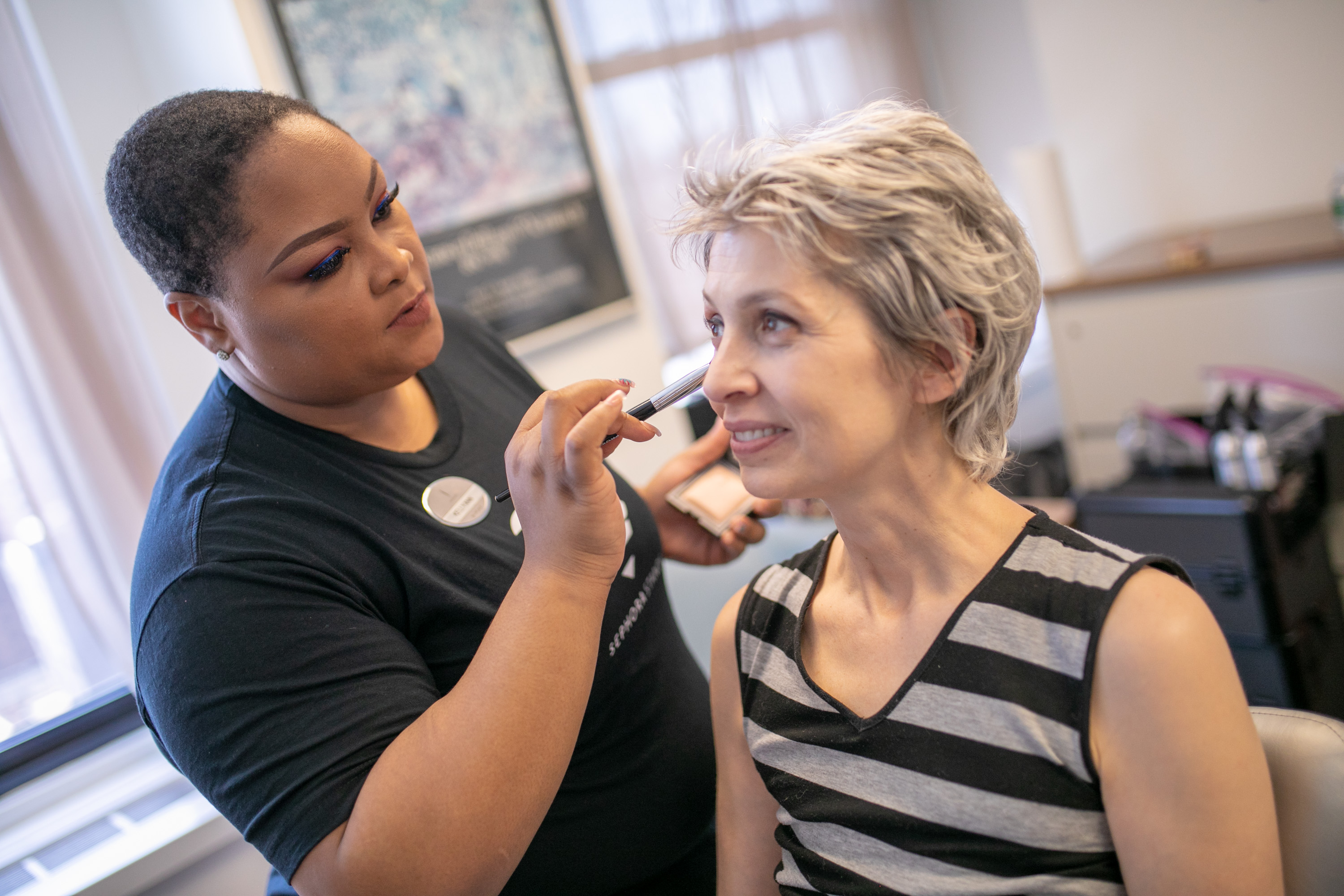 on wednesday may 2 four makeup artists from sephoras herald square store visited cancercares national office to offer complementary consultations to