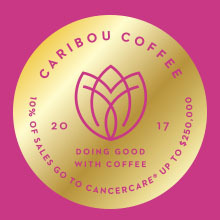 Display photo for Drink Up! 10 Percent of Caribou Coffee Purchases Benefit CancerCare!
