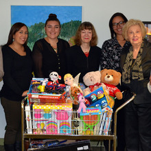 Display photo for Phi Beta Kappa Association of New York Donates Gifts for Children and Teens Affected by Cancer