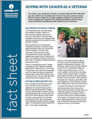 Thumbnail of the PDF version of Coping With Cancer as a Veteran