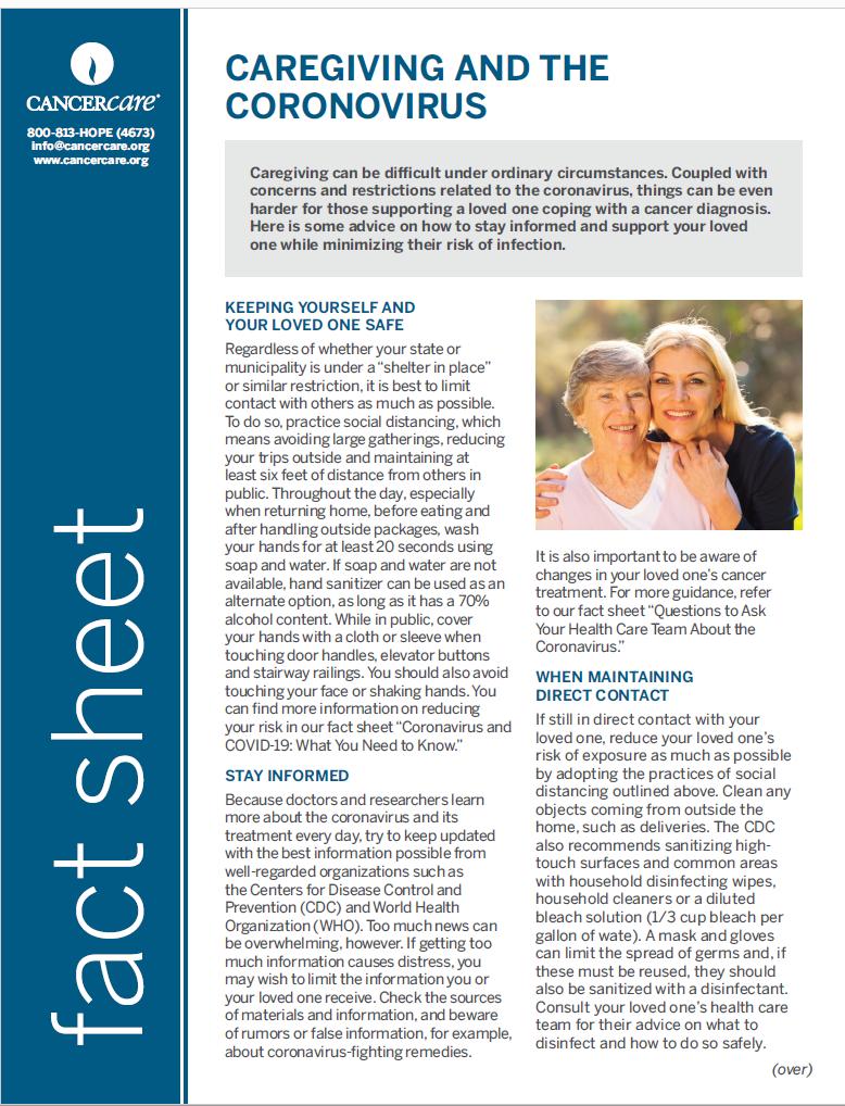 Thumbnail of the PDF version of Caregiving and the Coronavirus