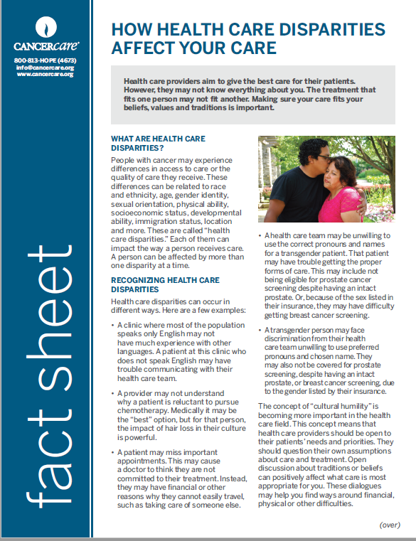 Thumbnail of the PDF version of How Health Care Disparities Affect Your Care
