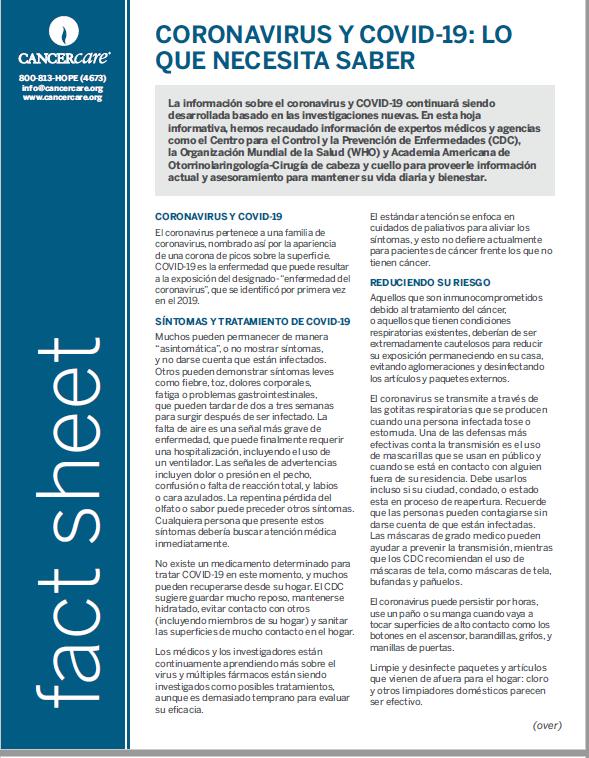 Thumbnail of the PDF version of Coronavirus y covid-19 lo que necesita saber