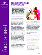 Thumbnail of the PDF version of The Importance of Hospice Care