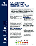 Thumbnail of the PDF version of Pain and Symptom Management: Talk to Your Health Care Team