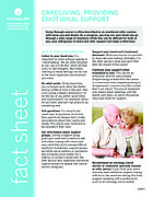 Thumbnail of the PDF version of Caregiving: Providing Emotional Support