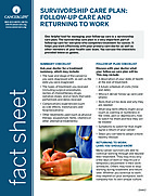 Thumbnail of the PDF version of Survivorship Care Plan: Follow-Up Care and Returning to Work