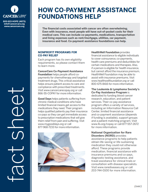 Thumbnail of the PDF version of How Co-Payment Assistance Foundations Help