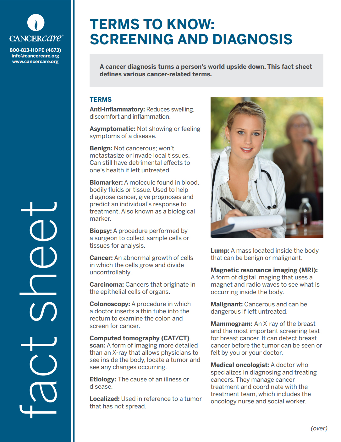 Thumbnail of the PDF version of Terms to Know: Screening and Diagnosis