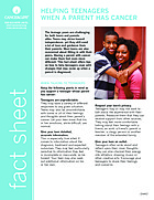 Thumbnail of the PDF version of Helping Teenagers When a Parent Has Cancer