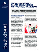 """Thumbnail of the PDF version of """"Doctor, Can We Talk?"""": Tips for Communicating With Your Health Care Team"""