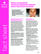 Thumbnail of the PDF version of Newly Diagnosed African American Women: What You Need to Know