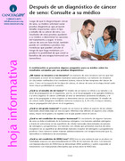 Thumbnail of the PDF version of Después de un diagnóstico de cáncer de seno: Consulte a su médico