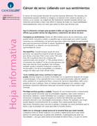 Thumbnail of the PDF version of Cáncer de seno: Lidiando con sus sentimientos