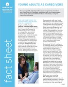 Thumbnail of the PDF version of Young Adults as Caregivers