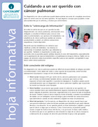 Thumbnail of the PDF version of Cuidando a un ser querido con cáncer pulmonar