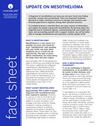 Thumbnail of the PDF version of Update on Mesothelioma