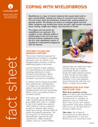 Thumbnail of the PDF version of Coping With Myelofibrosis