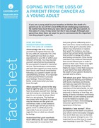 Thumbnail of the PDF version of Coping With the Loss of a Parent With Cancer as a Young Adult
