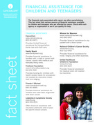 Thumbnail of the PDF version of Financial Assistance for Children and Teens