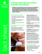 Thumbnail of the PDF version of Coping With Mouth Sores During Treatment