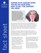 Thumbnail of the PDF version of Coping With Cancer When You're On Your Own: How to Get the Support You Need