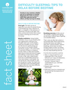 Thumbnail of the PDF version of Difficulty Sleeping: Tips to Relax Before Bedtime