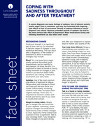 Thumbnail of the PDF version of Coping With Sadness Throughout and After Treatment