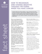 Thumbnail of the PDF version of How to Recognize and Change Negative Thought Patterns When You Have Cancer