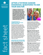 Thumbnail of the PDF version of After a Thyroid Cancer Diagnosis: Questions to Ask Your Doctor