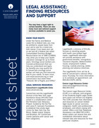 Thumbnail of the PDF version of Legal Assistance: Finding Resources and Support