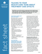 Thumbnail of the PDF version of Talking to Your Health Care Team About Treatment Side Effects