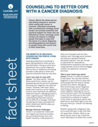 Thumbnail of the PDF version of Counseling to Better Cope With a Cancer Diagnosis