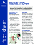 Thumbnail of the PDF version of Colostomy: Finding Resources and Support