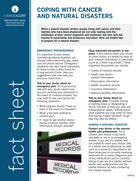 Thumbnail of the PDF version of Coping With Cancer and Natural Disasters