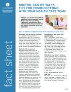 "Thumbnail of the PDF version of ""Doctor, Can We Talk?"": Tips for Communicating With Your Health Care Team"